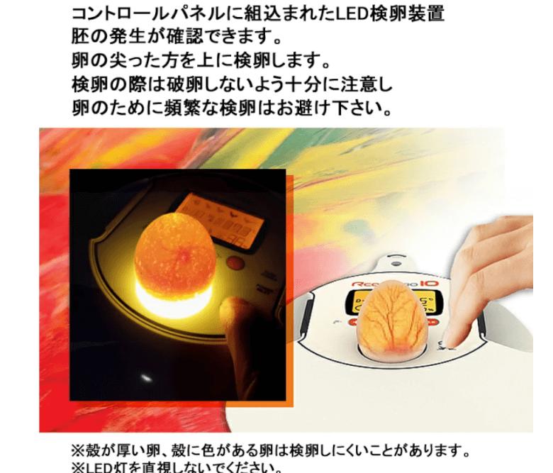 Rcom 孵卵器 検卵