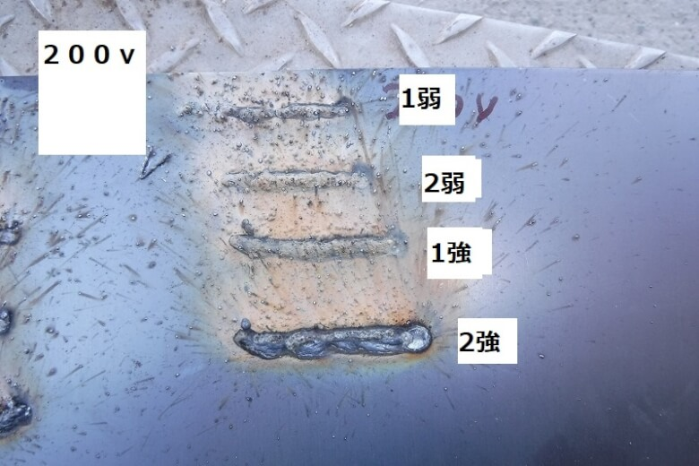 200v半自動溶接 スズキッド ビード
