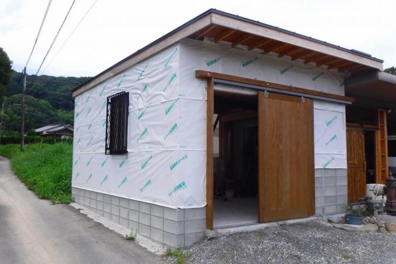 外壁に透湿防水シート