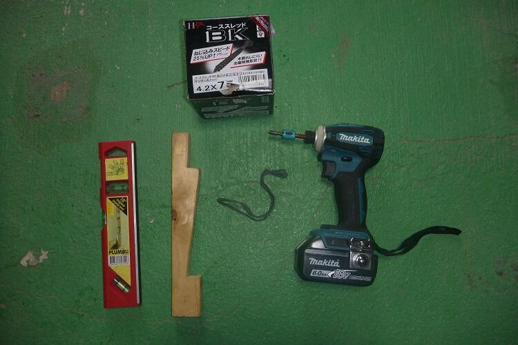 鎧張りに使う道具たち